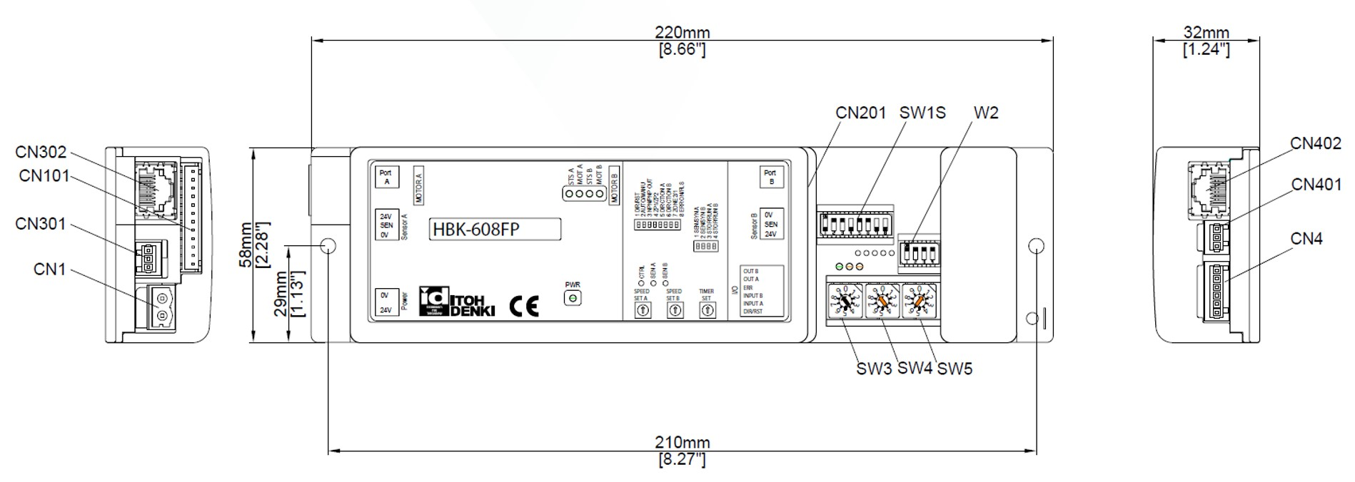 Itoh Denki Hbk 608fp Cable Wiring Zones 608 Diagram